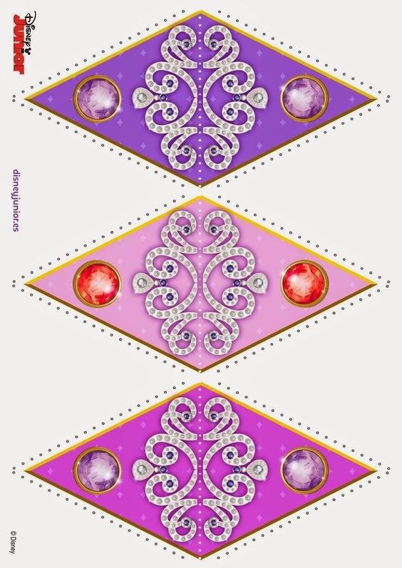 Sofia the first free printable bunting oh my fiesta in for Sofia the first crown template
