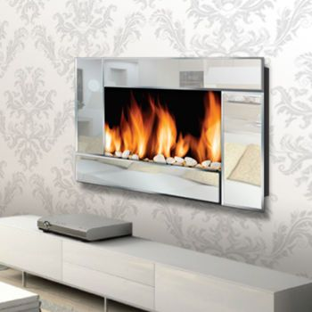 Warm House Reflections Wall Mount Electric Fireplace Item 323534 Rental