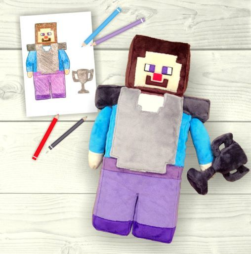 minecraft, toys inspired by children's drawings, custom stuffed animals, drawing stuffed animal, kids drawing, preschool activities, personalized toys, riciclo creativo bambini, kinderkunst, gifts ideas for kids, cucito creativo, arte infantil, artigianato, unique toys