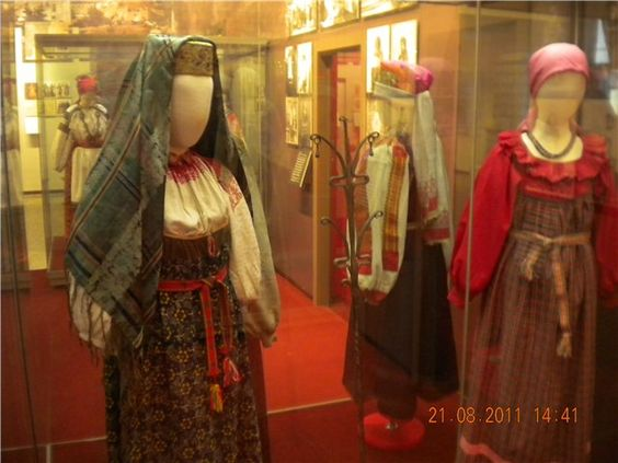 types of traditional Russian costumes