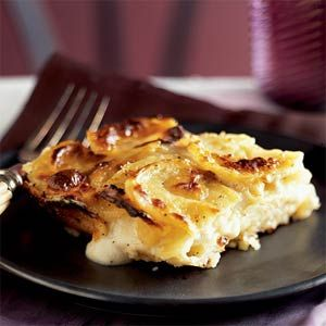 Potato Gratin with Goat Cheese and Garlic Recipe from Cooking Light