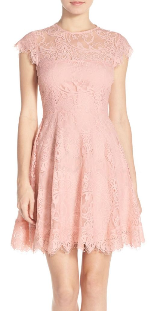 Beautiful lace fit & flare dress