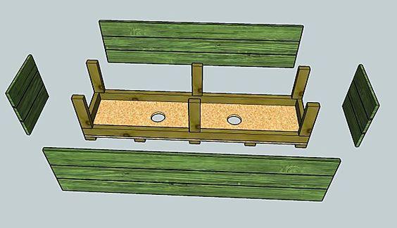 Faire bac en bois jardin pinterest articles for Bac en bois jardin