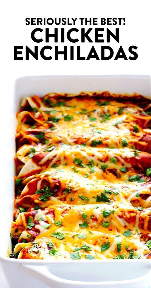 Best Chicken Enchiladas Ever Yummed Recipes Best Chicken Enchilada Recipe Easy Chicken Enchilada Recipe Mexican Dinner Recipes