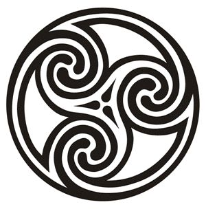 Image result for double-headed Celtic swirl