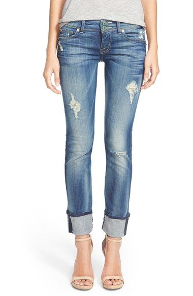 Hudson Jeans 'Ginny' Rolled Crop Jeans (Blondie) available at #Nordstrom