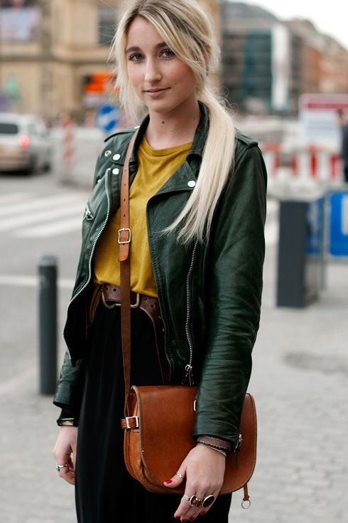 Womens olive green leather jacket – Jackets photo blog