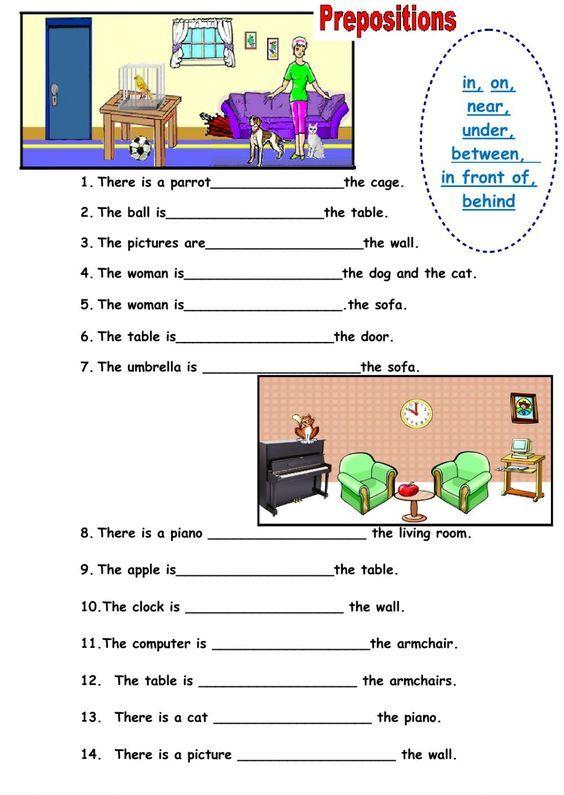 Prepositions Of Place Ficha Interactiva Y Descargable