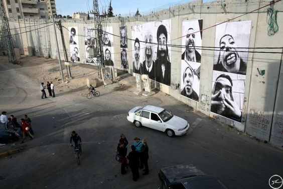 The Face2Face project consists of taking portraits of Palestinians and Israelis doing the same job and posting them face to face, in huge formats, in unavoidable places, on both Israeli and Palestinian sides.