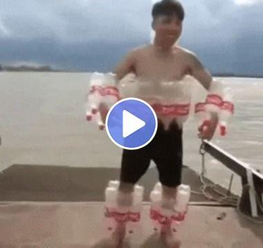Agora você pode nadar  no rio com segurança