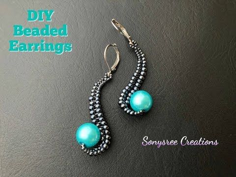 How To Make This Unique Designer Beaded Earrings Diy Beaded