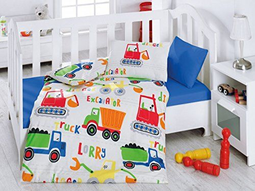 Construction Vehicles Themed Baby Bedding Toddlers Crib Bedding For Baby Boys 100 Cotton Shabby Chic Nursery Bedding Baby Boy Bedding Sets Baby Bedding Sets
