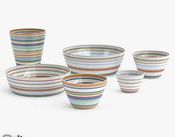 Origo Cups and Bowls 3D Model