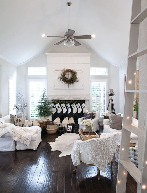 Astonishing Modern Christmas Decor Living Room Modern With Dark Wood Floors Tabl Farmhouse Decor Living Room Farm House Living Room Farmhouse Style Living Room