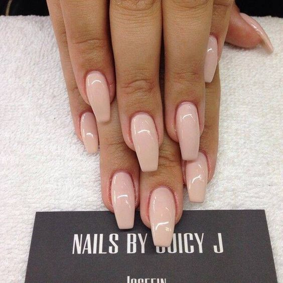Coffin / ballerina shape | nailart | Pinterest
