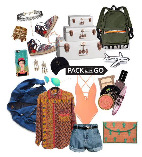 """""""Trip to Mexico"""" by curiosityfilled ❤ liked on Polyvore featuring Urban Decay, Bobbi Brown Cosmetics, Milani, Imoga, Maybelline, CB2, Kayu, Tart, Aquazzura and Retrò"""