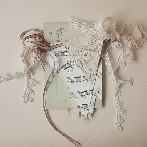 ~ beautiful vintage bunting