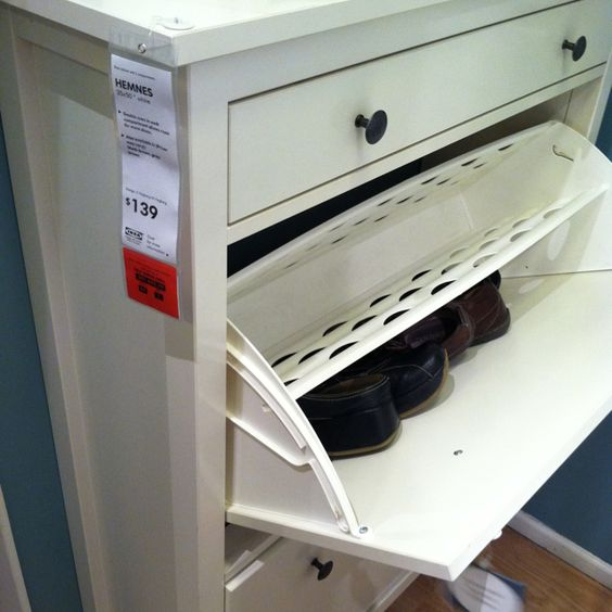 Ikea hemnes shoe cabinet with 4 compartments for the for Ikea shoe cabinet hemnes