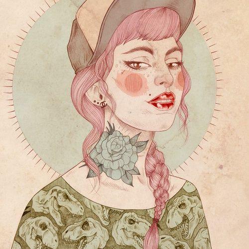 art, rose, and cap image