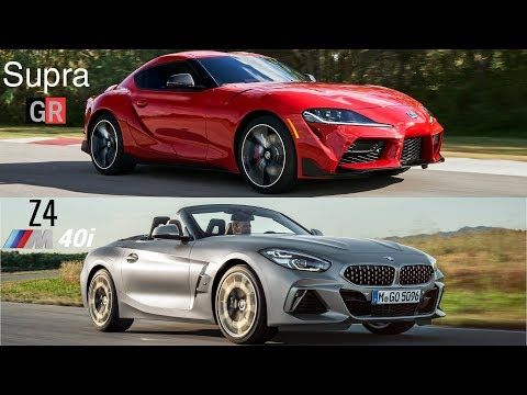 2020 Toyota Supra Vs Bmw Z4 2019 Youtube Toyota Supra Bmw Z8 Bmw Z4