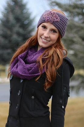 Lavender Embellished Headwrap Headband