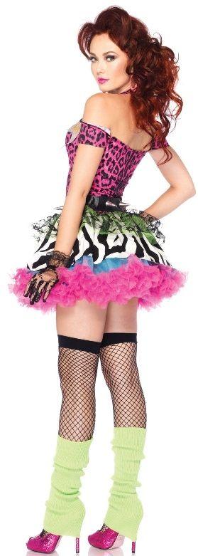 Fancy Dress Shop | Lingerie & Swimwear Store | Halloween Costumes | WD Lingerie - 1980S FANCY DRESS COSTUME - POP DIVA OUTFIT - 80'S DANCE UNIFORM - LADIES CYNDI LAUPER STYLE 1980'S COSTUMES[LA-85164]