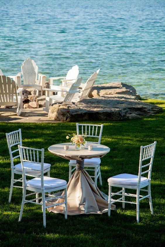 www.NeriPhoto.com lake michigan wedding reception