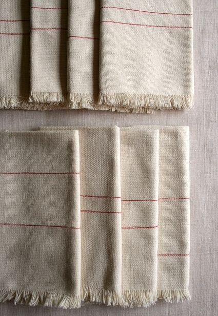 : Homemade Napkin, Crafts Patterns, Fringe Napkin, Gift Ideas, Craft Patterns, Diy Holiday Gifts, Napkin Sewing Pattern, Purlbee