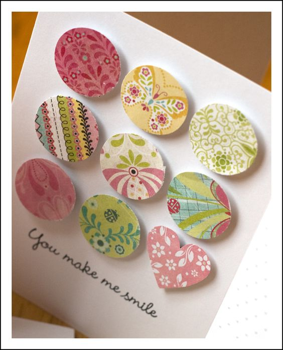 Circle and heart punches, darling card!