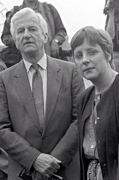 German Chancellor Angela Merkel. 1991.