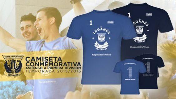El Leganés pone a la venta la camiseta del ascenso