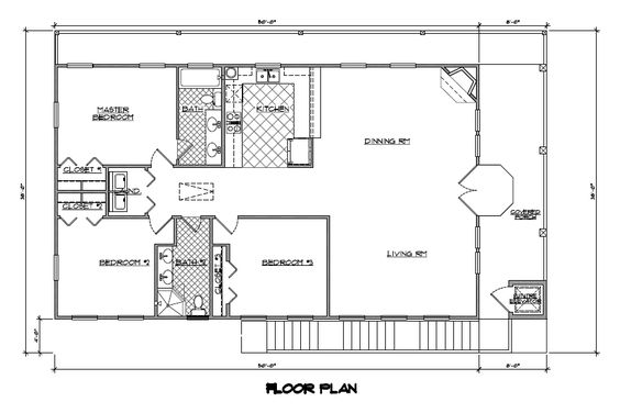 One story house plans with open concept eva 1 500 for One story open concept house plans