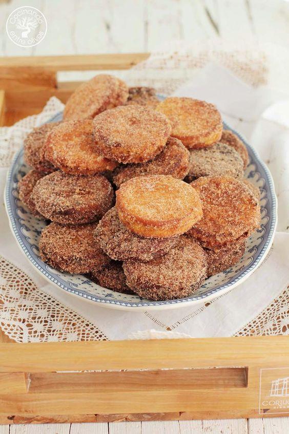 cocinando entre olivos galletas fritas rellenas de crema