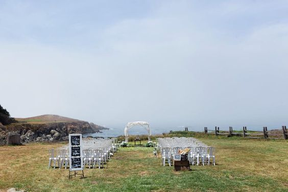 Ceremony site at bluff