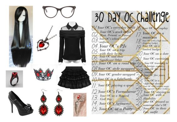 """30 Day OC Challenge: Day 18"" by mpeterson111199 ❤ liked on Polyvore featuring STELLA McCARTNEY, Demonia, Faith Connexion and Alchemy England"