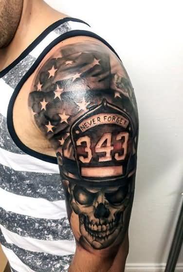 30+ Firefighter Tattoos On Sleeve