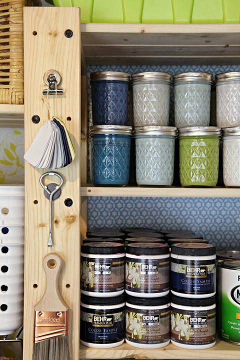 paint supplies paint organization and room paint on pinterest. Black Bedroom Furniture Sets. Home Design Ideas