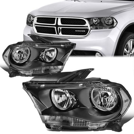 11 13 Dodge Durango Headlights Black Housing Clear Corner Dodge Durango Men S Vans Headlights