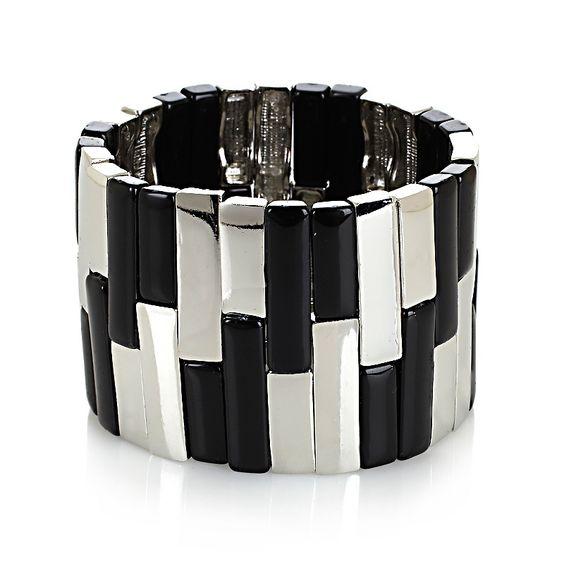 R.J. Graziano Wide Colored Stretch Bracelet
