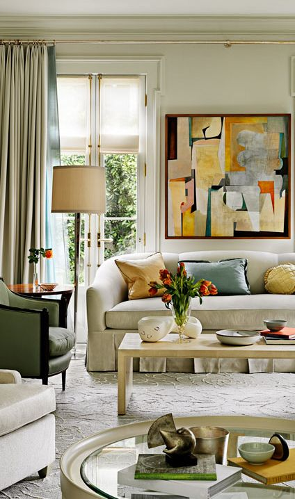 10 Super Eclectic Dining Room Interior Design Ideas: Eclectic Living Room Design Barbara Barry