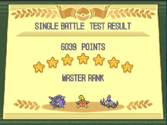 One of the best ways to pass the time! Master rank in Pokemon black.  Well balanced team with my Cloyster, Shuckle and Chandelure!!