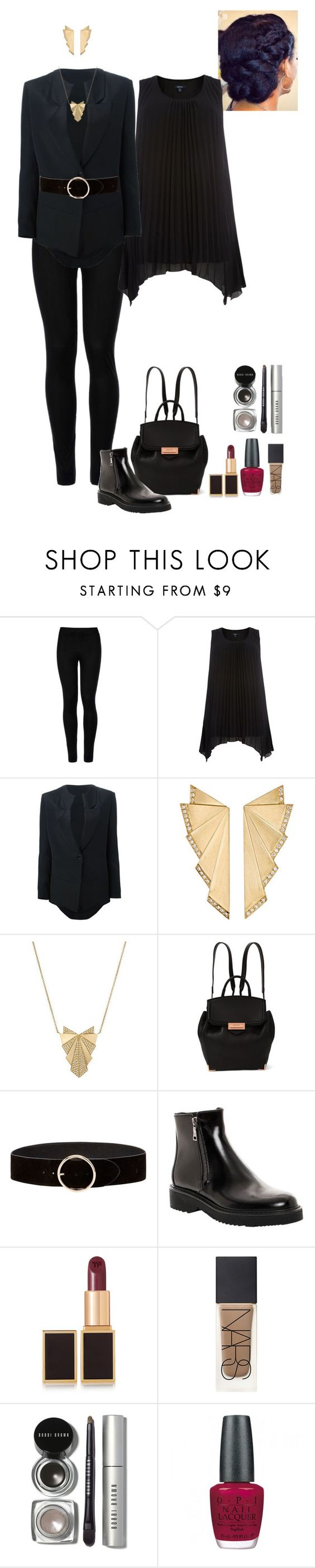 """Work clothes (Aoife)"" by shulabond on Polyvore featuring Wolford, Samya, COSTUME NATIONAL, Ileana Makri, Alexander Wang, Prada, Tom Ford, NARS Cosmetics, Bobbi Brown Cosmetics and OPI"