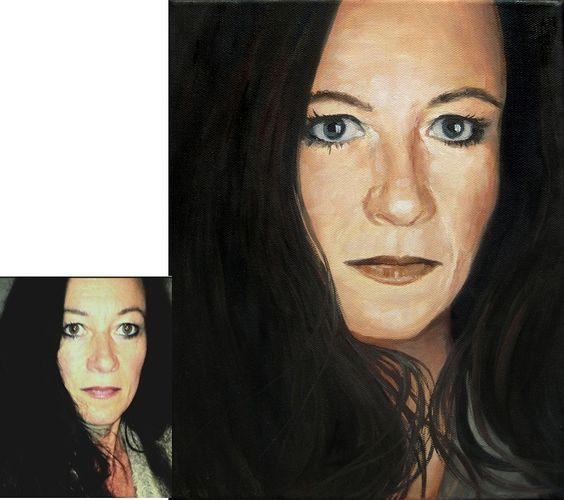 Bestellen Sie hier ein #Portrait auf #Leinwand nach Ihrem Foto!