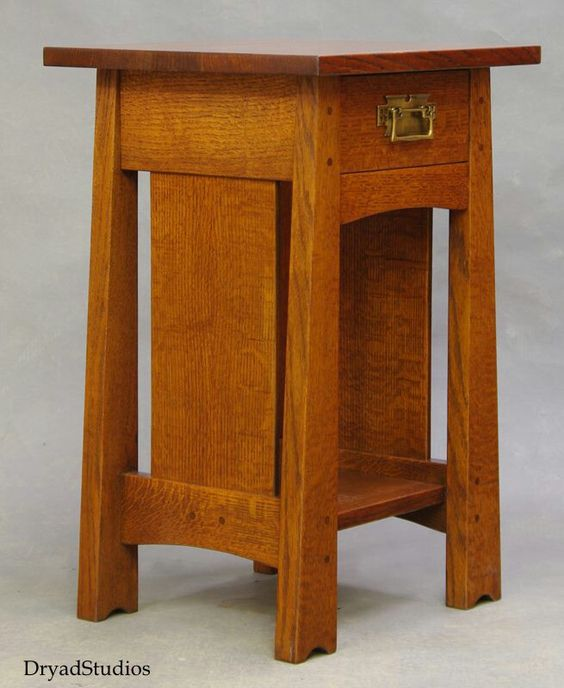 Dryad studios mackintosh inspired nightstand arts Craftsman furniture