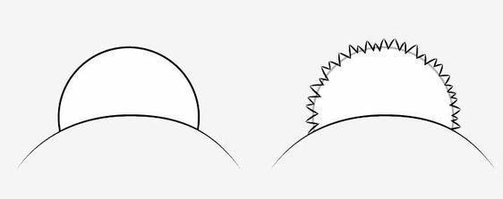 Vẽ cục bông cho nón anime