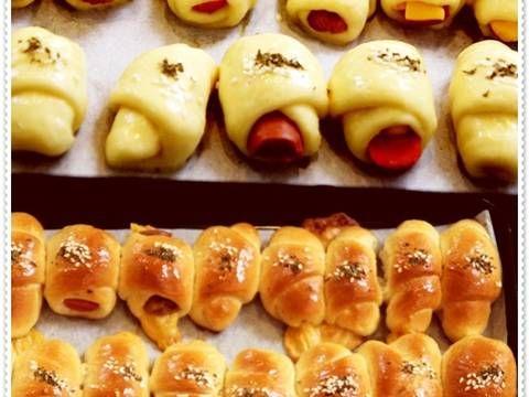 Resep Roti Unyil Sosis Keju Favorit Keluarga Mini Sausage Roll Bun Oleh Tintin Rayner Resep Resep Roti Resep Makanan Dan Minuman