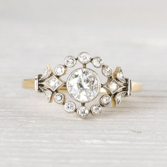 Alternative shape diamond engagement ring