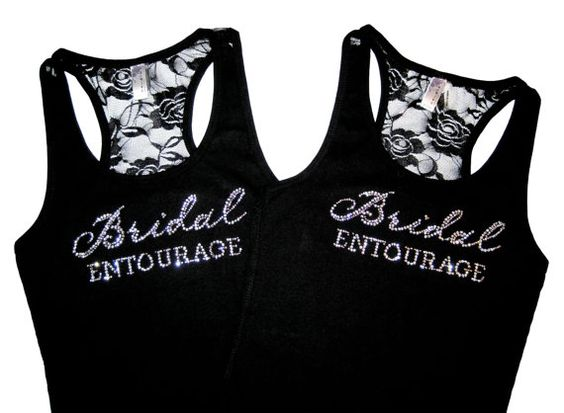 2  Bridesmaid Tank Top Shirt. Lace Tank Top. by PrimAndProperB, $32.00