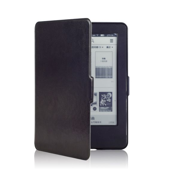 $259.00 (Buy here: http://appdeal.ru/8559 ) Magnet Inside Leather Cover Case for Amazon New Kindle 2014 (Kindle Touch 7 Generation) DHL Fedex Free Shipping for just $259.00