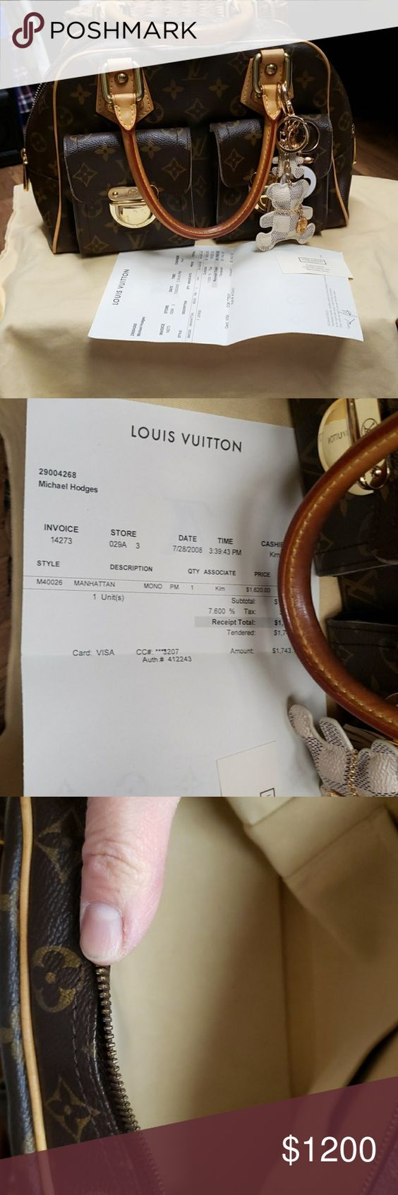 Authentic Lv M40026 Manhattan Monopm Lv Monogram Bag Lv Monogram Louis Vuitton Bag